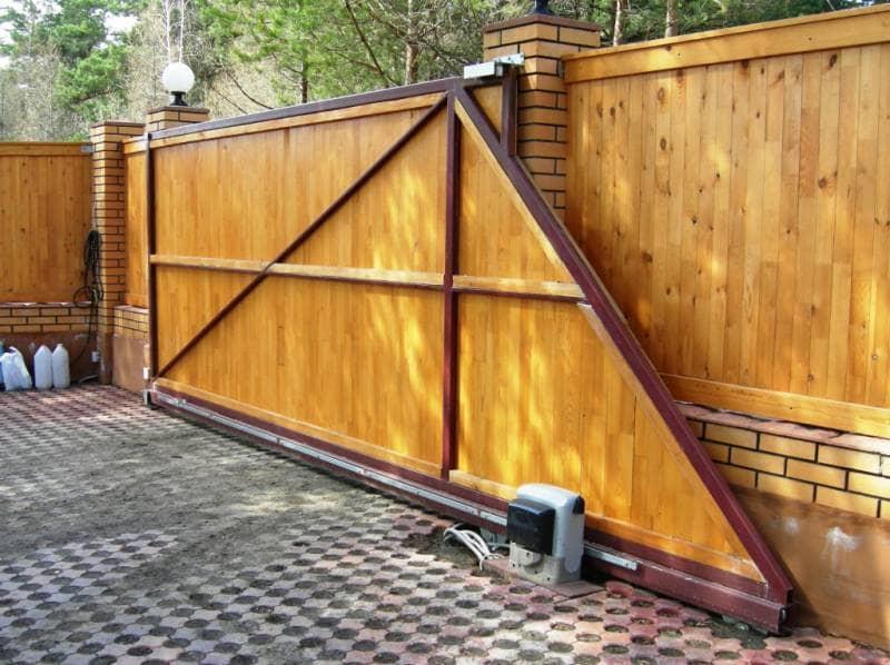 Ворота откатные своими руками для дома 60